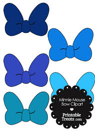 minnie mouse bow clipart shades blue printabletreats