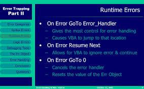 Excel Vba On Error Resume Next Excel Vba Goto 0 Contegri Com