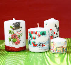 use vintage christmas wrapping paper and mod podge to decoupage