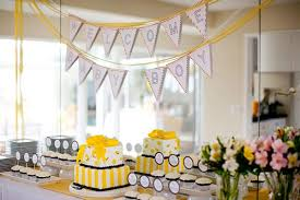 yellow baby shower ideas bump smitten real baby shower a yellow bb is for baby