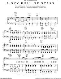 coldplay sky stars sheet music voice piano guitar