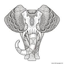 difficult halloween coloring pages elephant for hard difficult zen anti stress animal coloring