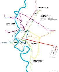 Bangkok Subway Map by Bangkok Public Transport Page 107 Skyscrapercity