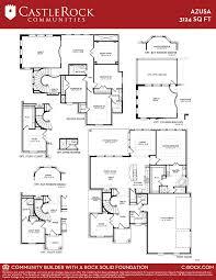 azusa 3 car gold home plan by castlerock communities in sunfield