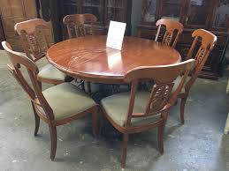 dining tables ethan allen round dining table vintage thomasville