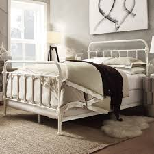 wondrous bedroom design with metal bed frame combined rounded base