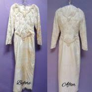 wedding dress restoration the restoration of a 1995 shantung silk wedding dress