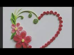 decorate quilling greeting card and wall design type by