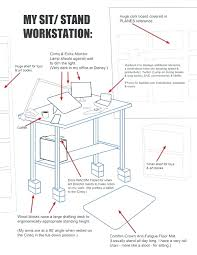 desk great ergonomic standing desk setup best images about