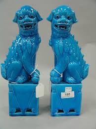 blue foo dogs auction catalog nadeau s auction gallery