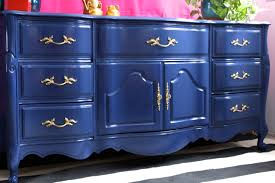 blue french provincial buffet the resplendent crow