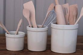 kitchen utensil canister kitchen utensil canister stoneware utensil holders personalized