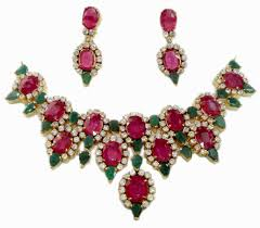 earring necklace ruby images Exclusive ruby emerald maharaja necklace with matching earrings JPG