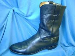 s boots justin s boots cowboy justin sz 9 b narrow black leather