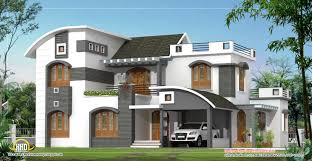 luxury roof home design house design by green architects kozhikode