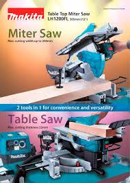 makita portable table saw table top miter saw lh1200fl makita pdf catalogue technical