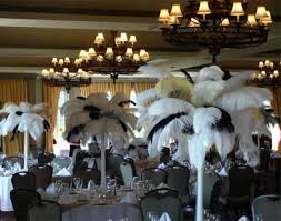 Black And White Centerpieces For Weddings by Black U0026 White Feather Centrepieces Wedding Decor Inspiration