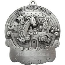 noahs ark personalized pewter ornament