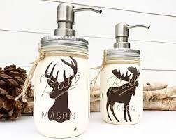 mason jar soap dispenser etsy