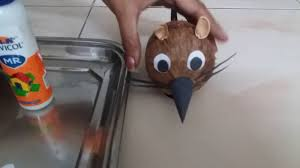coconut shell toy created at home best out of waste youtube