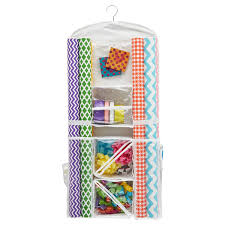 gift wrapping storage hanging gift wrap organizer the container store