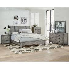 rustic casual gray 6 piece california king bedroom set nelson