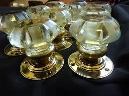 green glass door knob 5 pairs rare antique glass u0026 brass rim lock door knobs