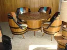 whiskey barrel table for sale full set of barrel furniture on craigslist missouri 1920s