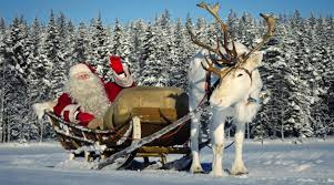 christmas reindeer santa claus children learning about christmas