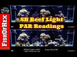 sb reef lights review sb reef light par readings with seneye reef 20 40 60 80 100