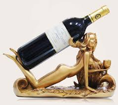 cool wine gifts women sculpture wine bottle holder feelgift