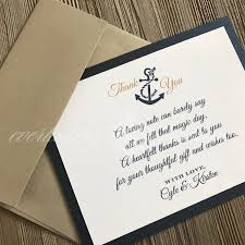 nautical thank you cards nautical thank you card gold and navy wedding thank you nautical