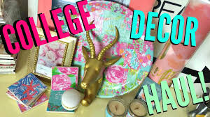 college bedroom dorm haul lilly pulitzer inspired youtube