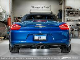 Porsche Boxster Base - awe tuning porsche 981 boxster s performance exhaust awe tuning