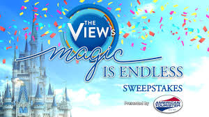 abc u0027s the view to broadcast from animal kingdom sweepstakes