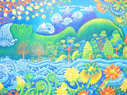 bir tibetan colony woozical world mother earth wall mural