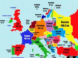 3m Center Map World Map Based On Population Size Business Insider