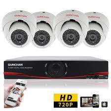 gadgets definition sunchan cctv security 720p 1megapixel 4ch ahd dvr day night ir
