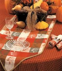 thanksgiving table cloth table runner and napkins