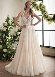 a line wedding dresses buy discount charming tulle halter neckline a line wedding dress