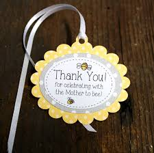 bumble bee themed baby shower tag personalized gift tags or