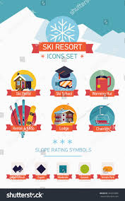 ideal resort map cool vector ski resort map legend stock vector 364973006