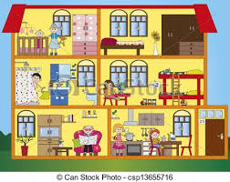 Interior House Drawing Clipart Of House Interior Illustration Of Interior House With