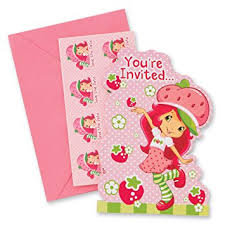 strawberry shortcake party supplies strawberry shortcake party invitations party
