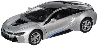 bmw i8 amazon com kinsmart bmw i8 1 36 scale super car gray toys u0026 games
