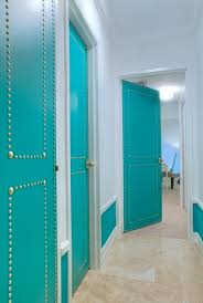 Colored Interior Doors Interior Doors Using A Color Other Than White Nailhead Trim