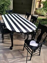 White Furniture Dining Sets Amazing Black And White Striped Dining Table Completed By