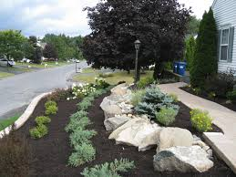 landscaping ideas for front yard with a slope small frugal for