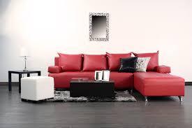 red sofa decor