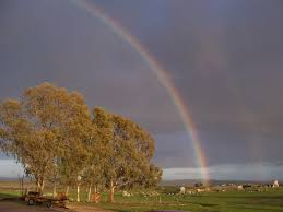 imagenes de paisajes lluviosos arcoiris despues de un dia lluvioso fotos de paisajes
